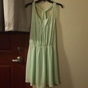 Mint green racerback party dress
